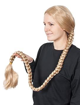 Peluca Rapunzel, XXL-Trenza rubia