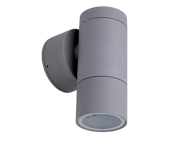Applique Esterno Moderno : Ancona applique cilindro esterno moderno xgu grigio