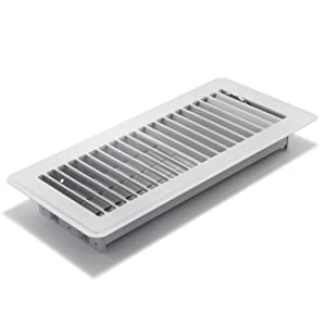 Accord ABFRWH410 Floor Register with Louvered Design, 4-Inch x 10-Inch(Duct Opening Measurements), White