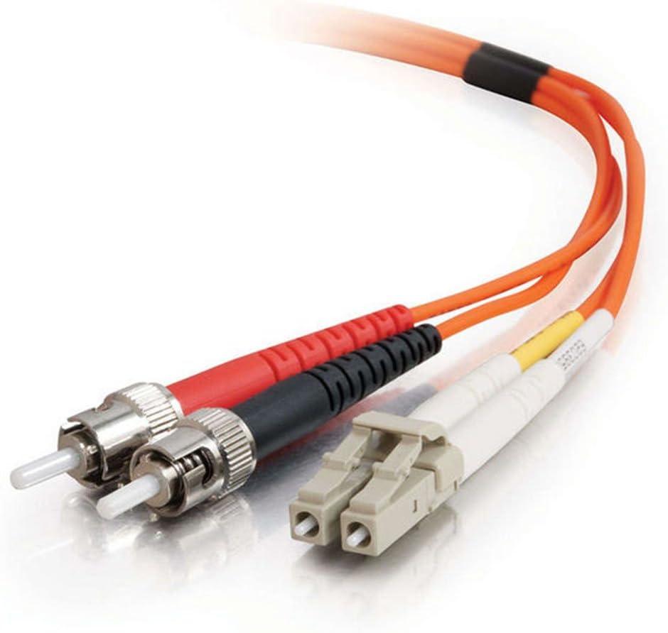 C2G 37947 OM1 Fiber Optic Cable 9.8 Feet, 3 Meters LC-ST 62.5//125 Duplex Multimode Fiber Cable Orange Plenum CMP-Rated