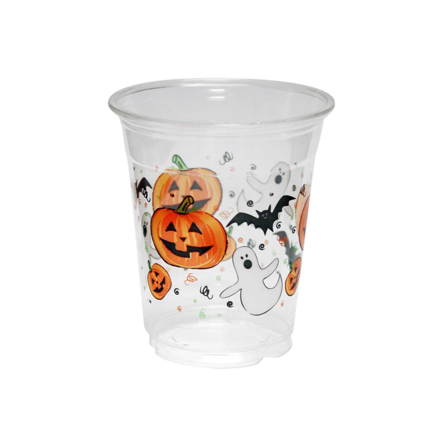 Party Essentials Soft Plastic Printed Party Cups, 12-Ounce, Halloween, 20-Count