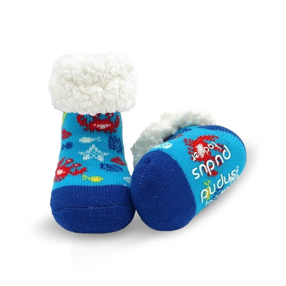 Pudus toddler (1-3 years) cozy winter classic slipper socks with grippers…