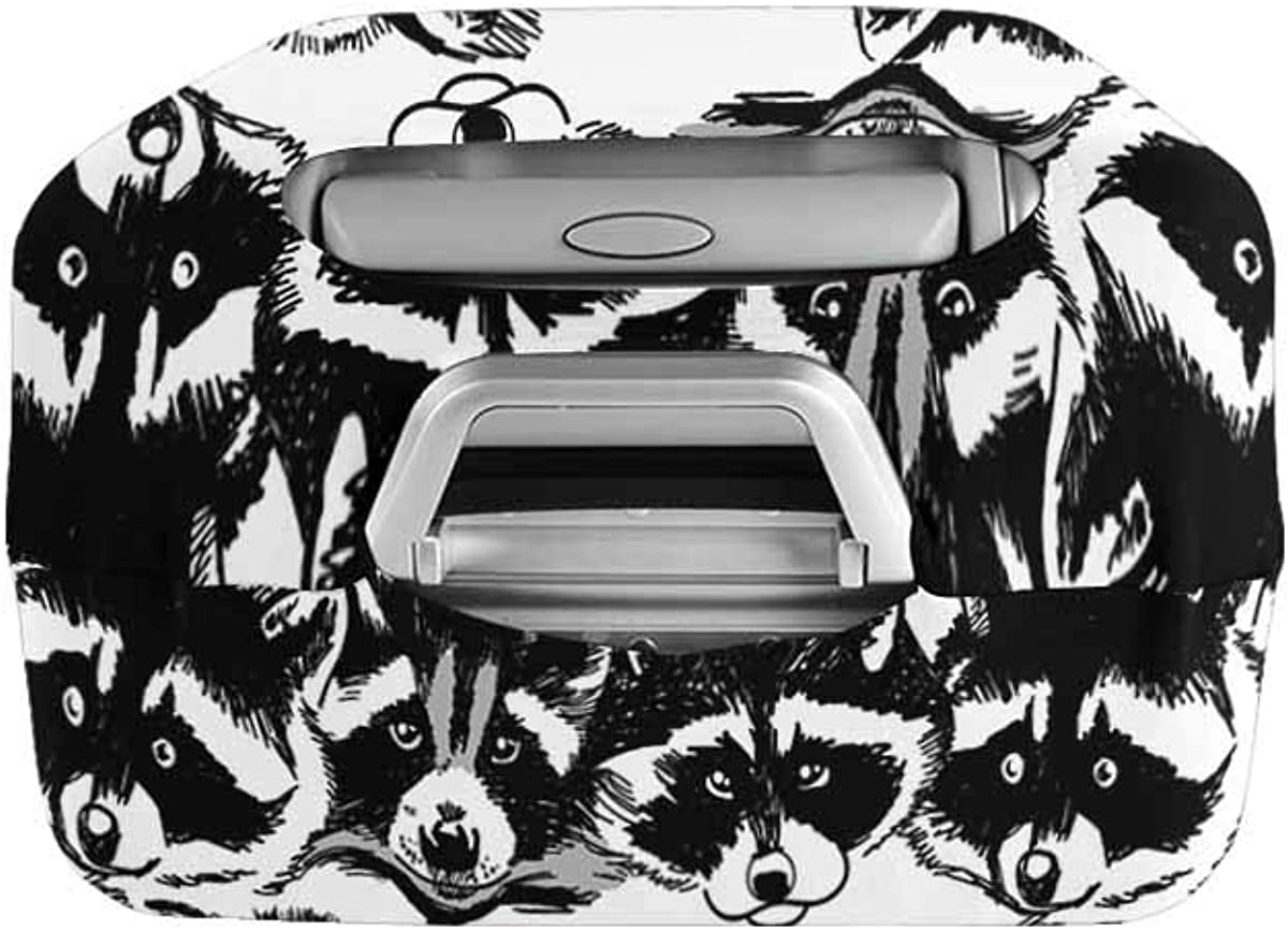 INTERESTPRINT Travel Luggage Cover Suitcase Protector Fit 18-28 Inch Raccoons