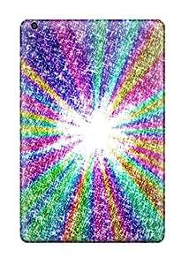 Protection Case For Ipad Mini/mini 2 / Case Cover For Ipad(glittery Rainbow Rays )