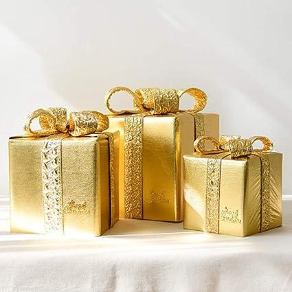 QYQ Decoraciones navideñas Cajas Bolsas de Regalo Adornos Apoyos de Tiro Árbol de Navidad para la