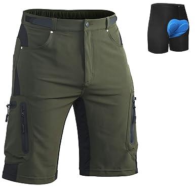 76b0c138c Amazon.com  Ally Men s Cycling Shorts Loose-Fit 4D Padded Bike ...