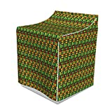 """Ambesonne Kente Pattern Washer Cover, Tribal Kenya Nigeria Design with Lively Cultural Colors Abstract Traditional, Suitable for Dryer and Washing Machine, 29"""" x 28"""" x 40"""", Multicolor"""