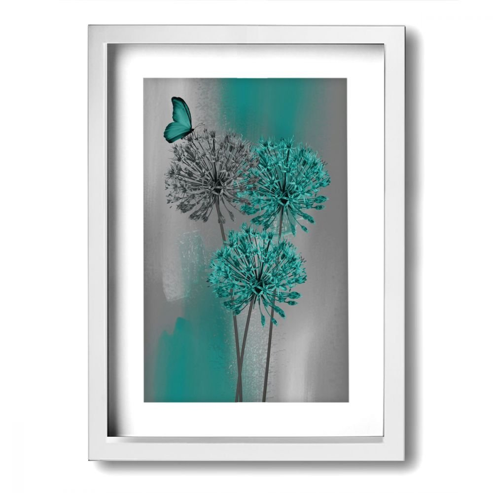 Ale art modern frame bathroom wall art teal gray dandelion vintage pictures bath wall art ready to hang for home decor