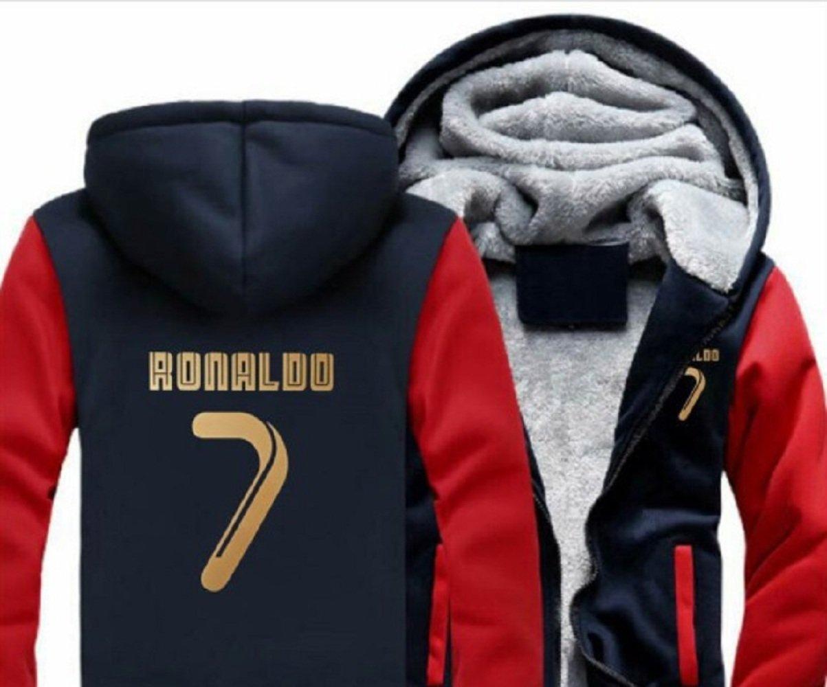 JJZHY Nr. 7 Ronaldo C Ronald Plus Samt Pullover Männer und Frauen Herbst und Winter lose Kapuzenjacke