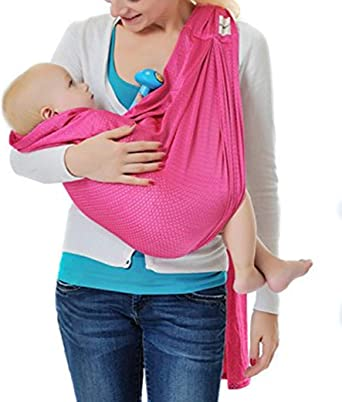 Stretchy Baby Ring Sling Carrier Infant Toddler Water Pool Mesh Wraps Summer