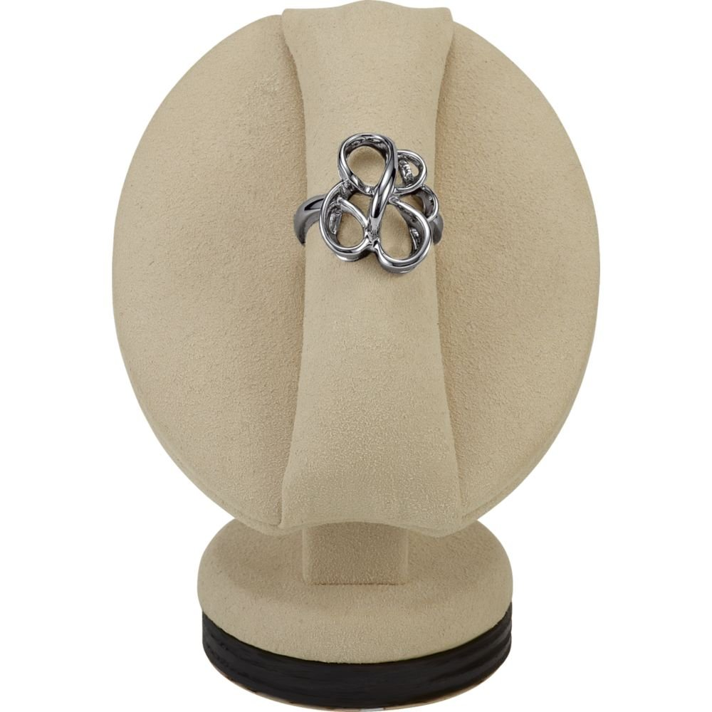Short Ring Stand With Ring Roll and Oval Base