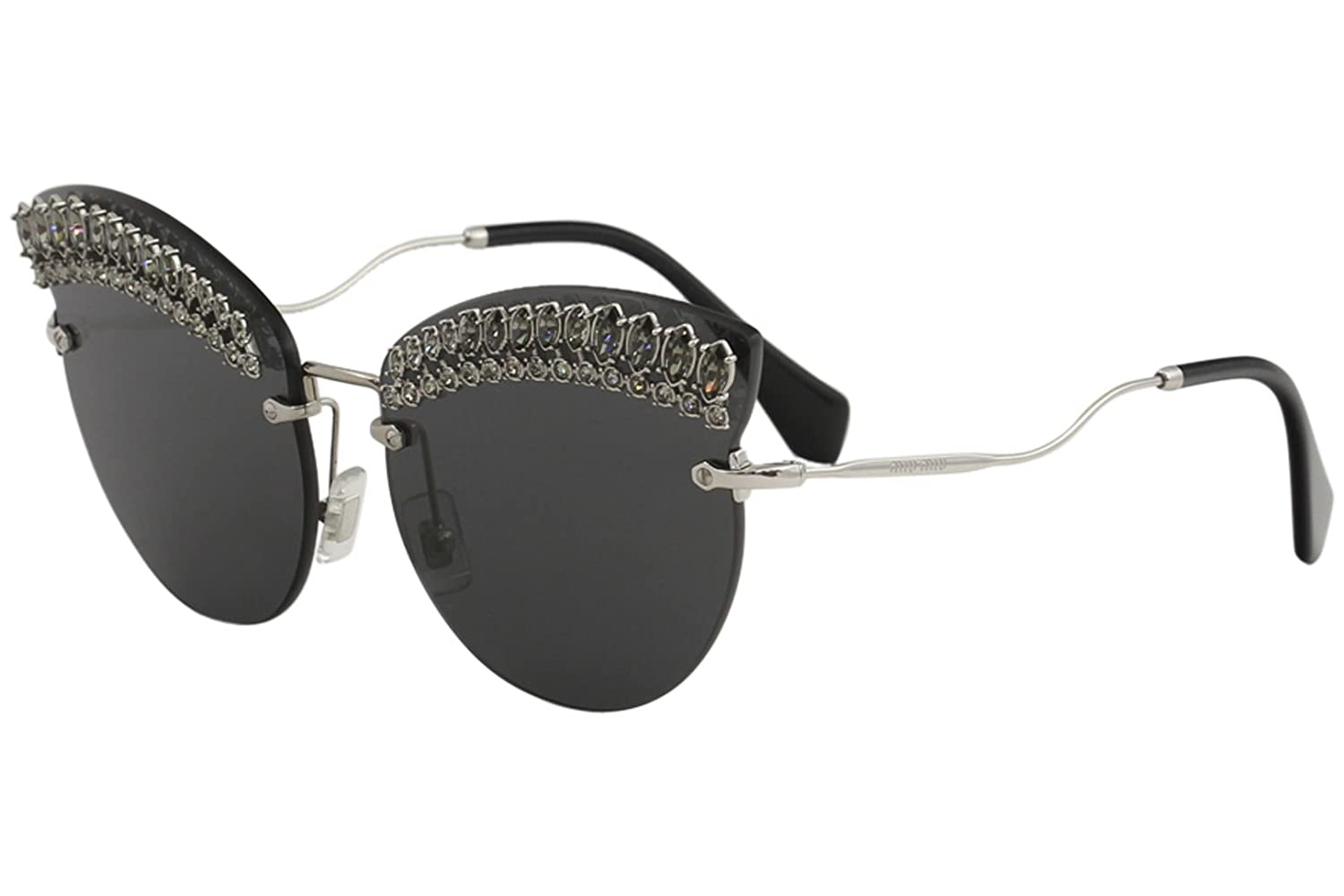 01293fb34574 Amazon.com  Miu Miu Women s Crystal Cat Eye Sunglasses