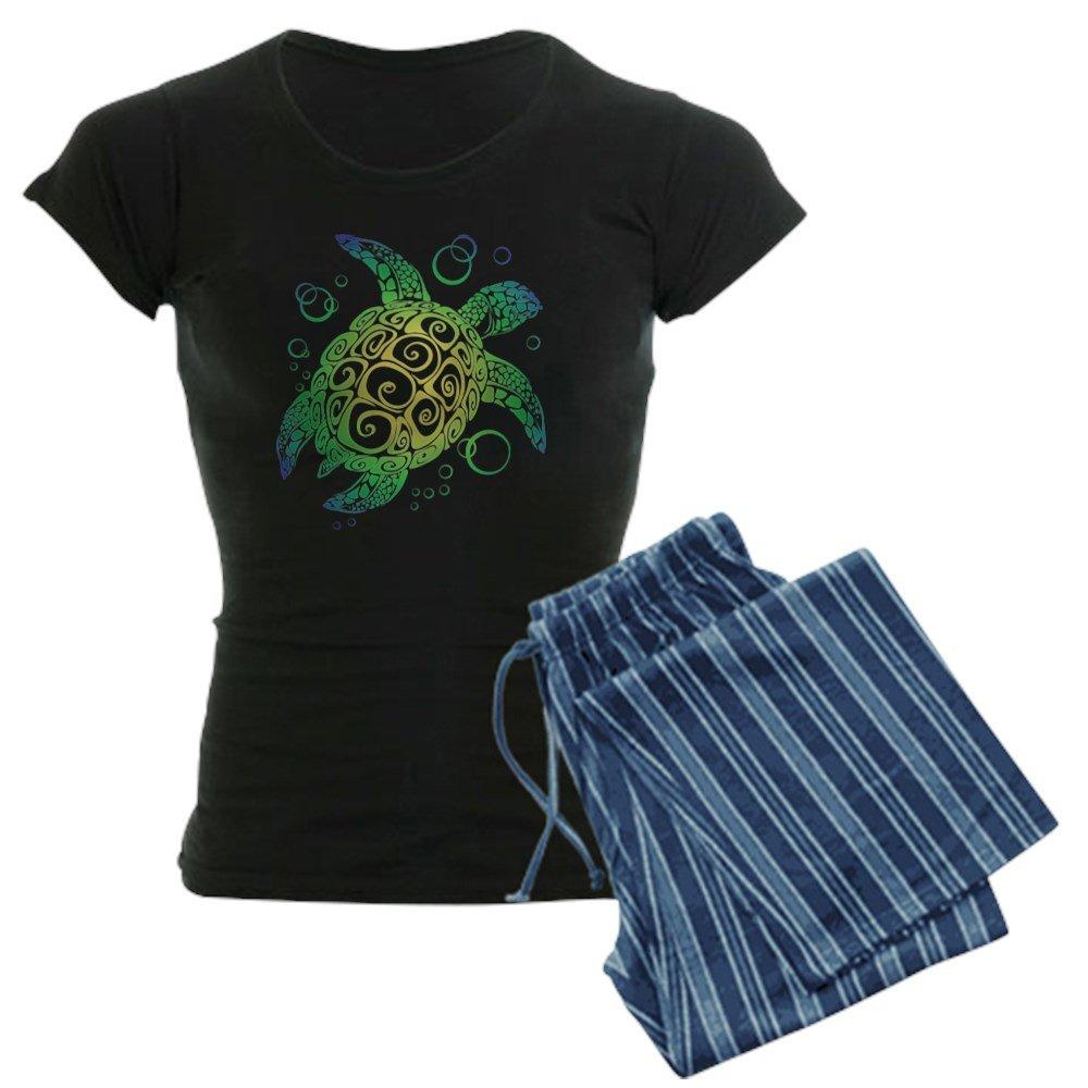 CafePress - Sea Turtle Pajamas - Womens Novelty Cotton Pajama Set, Comfortable PJ Sleepwear