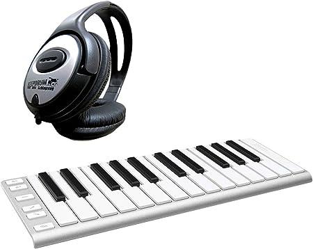 CME Xkey – 25 Keyboard USB controlador midi + Auriculares ...