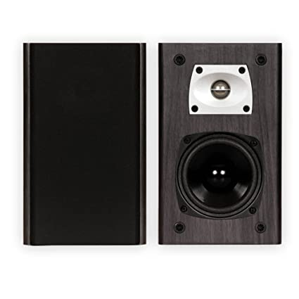 Theater Solutions B1 Black Bookshelf Speakers Surround Sound Home Speaker Pair