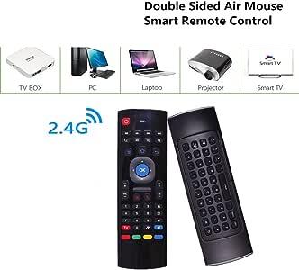XuBa - Teclado inalámbrico Inteligente con Mando a Distancia retroiluminado del ratón 2.4 G RF para Ordenador de TV: Amazon.es: Hogar