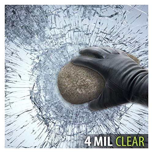 BDF S4MC Window Film Security and Safety Clear 4 Mil (24in X 14ft) (Security Tint)