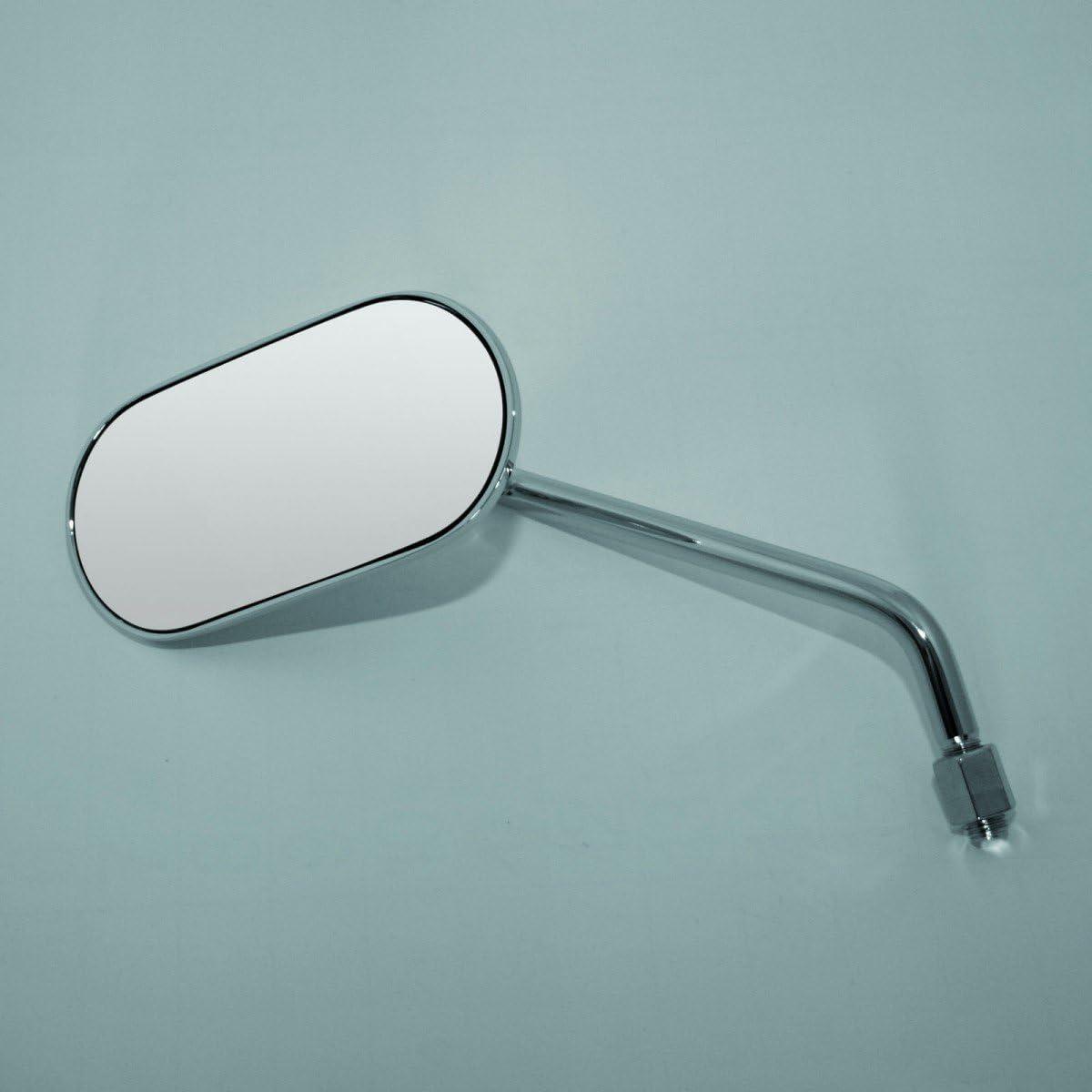 Spiegel AGILA Stahlstiel rechts 302-291 oval schwarz