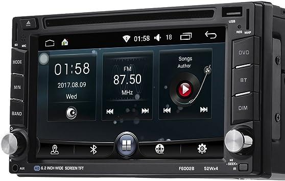 Doble din LESHP Radio navegador GPS para coche Android 6.0 Blutooth WIFI con 6.2