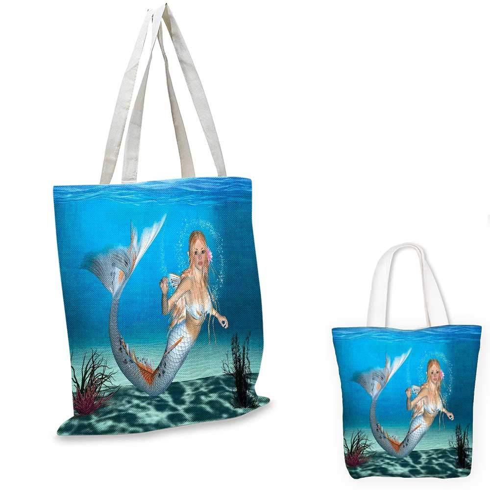 MermaidArtistic Oceanic フィギア 海の馬とカルマーパターン 図面効果 ペールブルー イエロー オレンジ 12