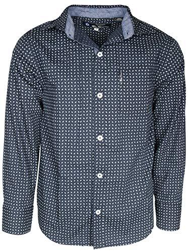 Ben Sherman Boy\'s Long Sleeve Button Down Shirt, Blue Paisley, Medium / 10-12'