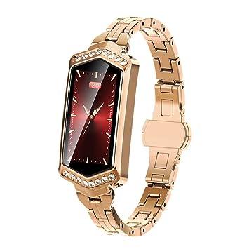 OJBDK Reloj Inteligente SmartWatch para iOS y Android de la Mujer ...