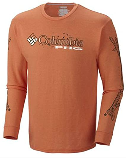 28ad31603f5 Amazon.com: Columbia PHG Wild for Hunting L/S Tee Shirt, Heatwave ...