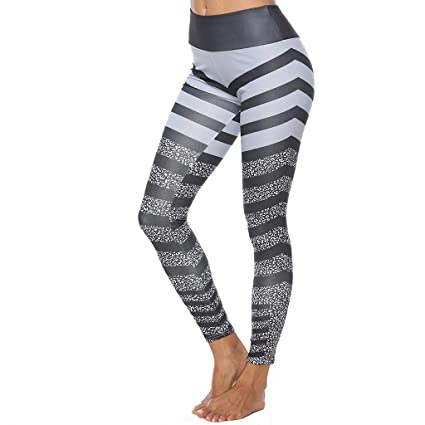 defdfe3aa6fc4 YunZyun Pants - Workout Capris - High Waist Workout Leggings for Women -  Lightweight Printed Yoga Legging -Sports Gym Yoga Running Fitness Leggings  Pants