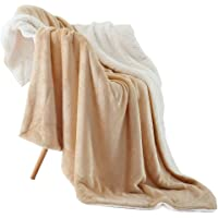 """NANPIPER Throw Blanket Reversible Sherpa Flannel Blanket Super Soft Fuzzy Plush Fleece Microfiber for Bed/Couch (60""""x80…"""