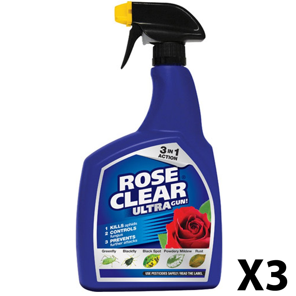 2 X RoseClear Ultra Gun! Spray, 1 L