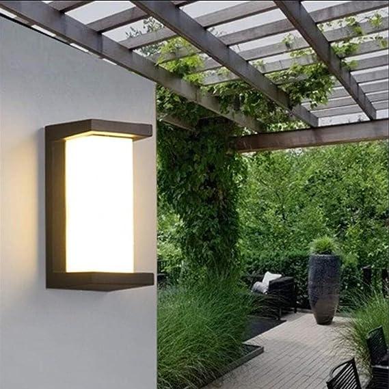 GYBYB 30W LED Luz de pared Impermeable Luz de porche Lámpara de pared LED moderna Sensor de movimiento por radar Patio Jardín Luz exterior AC90~260V @ see_pic_Rader_sensor: Amazon.es: Iluminación