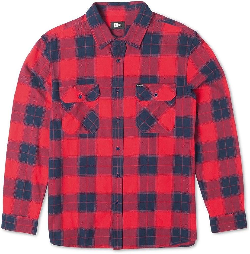 Rip Curl Mens Ruggles Long Sleeve Flannel Shirt: Amazon.es: Ropa y accesorios