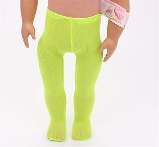 Accessorio per Bambola Ideale Leggings Calze Amercian Girl Doll (Verde)