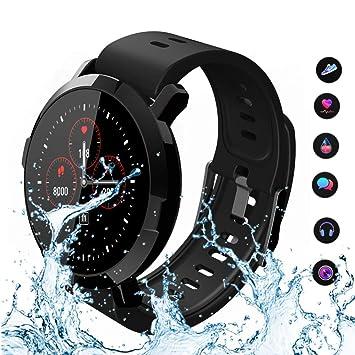 Reloj inteligente, pantalla táctil Bluetooth reloj de pulsera/análisis de podómetro/monitoreo del sueño/monitor de ritmo cardíaco Tracker/monitoreo de la ...