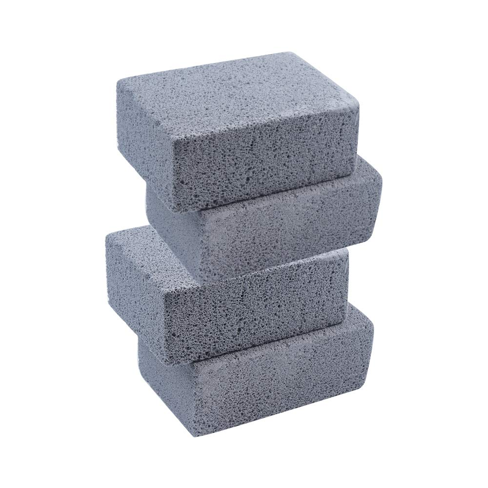 Ecological Grill Cleaning Brick 4 Pack Pumice Stone Cleaning Clean Brick for Cleaning BBQ Grills,Racks,Flat Top Cookers,Grills Pans