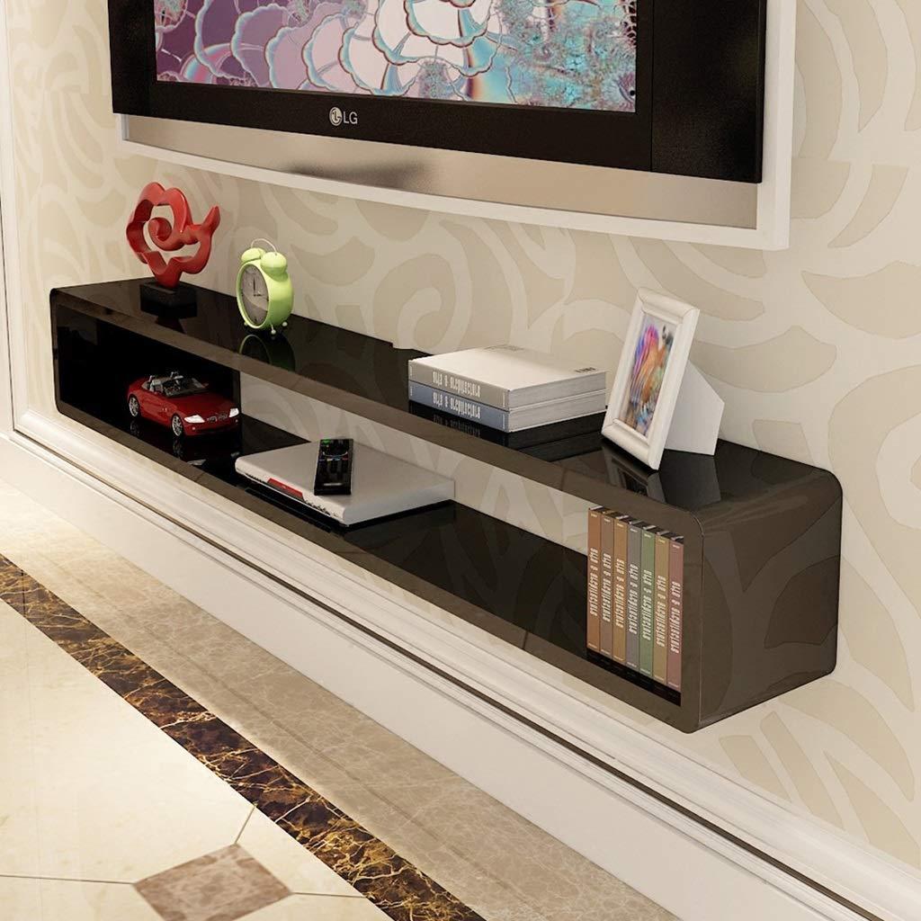壁掛けテレビキャビネット棚テレビ背景壁飾りセットトップボックスルーターDVD棚テレビコンソール B07RQBQBWD