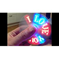 DollsnKings I Love You Fidget Spinner Changing LED Rainbow Lights Hand Tri-Spinner Desk Toy - Colours May Vary