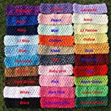 100 1.5 Inch Crochet Headbands for Flower Clips and Bows Fits Baby to Adults 30 Colors to Choose From U Pick Colors
