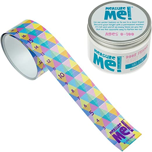 Children/'s Roll-Up Wall Growth Height Chart 0-200cm Baby Harlequin Measure Me