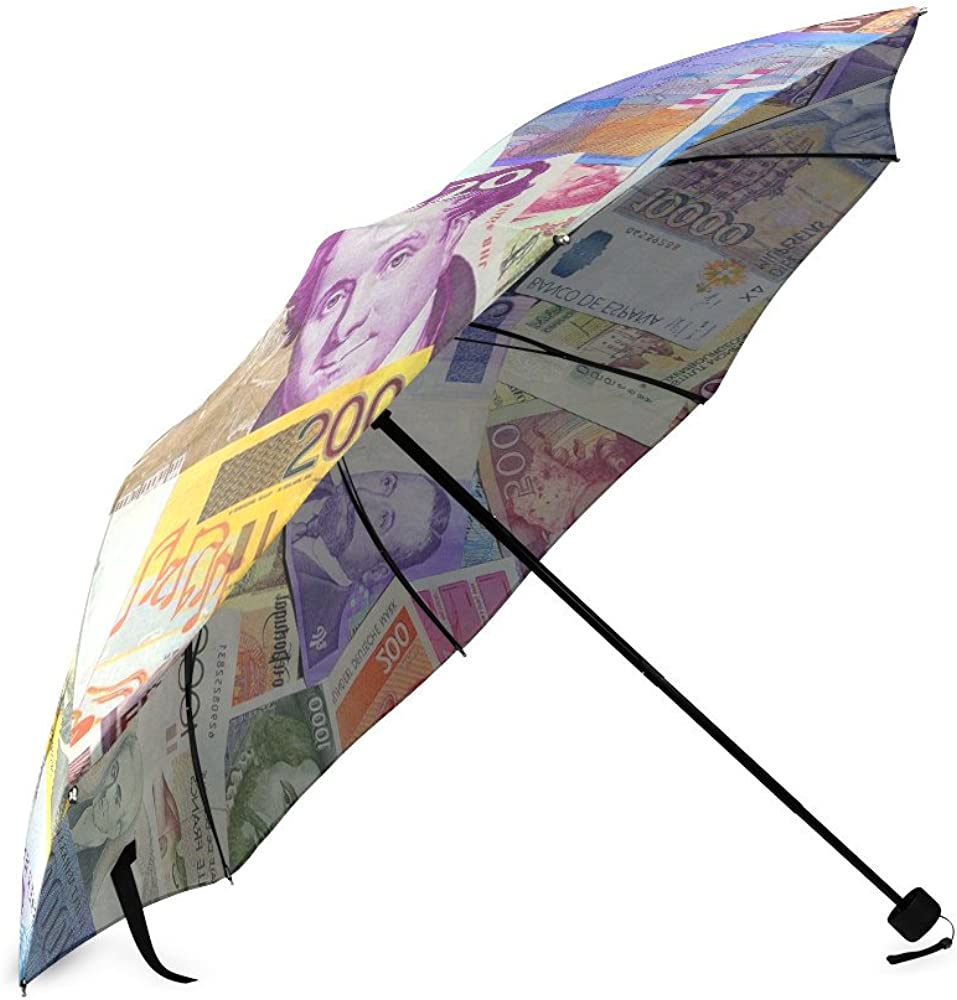 Umbrella Money Custom Umbrella Automatic Folding Umbrella Rainproof /& Windprrof