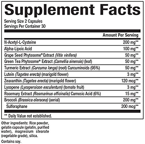 Natural Factors - Ultimate Antioxidant With Alpha-Lipoic Acid amp Lutein 60 Capsules Discount