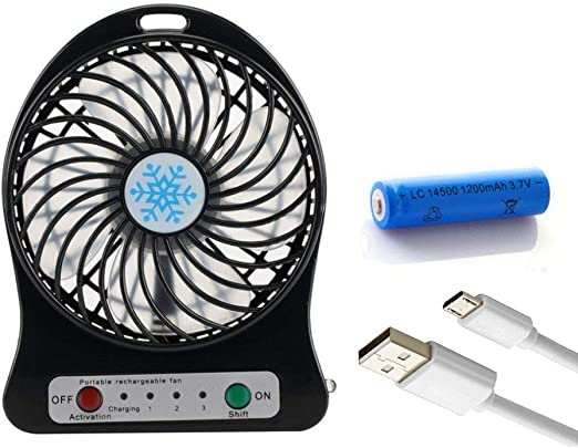Mini ventilador de carga portátil USB 4 Ventilador de 4 pulgadas ...
