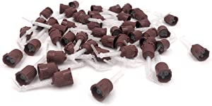 50pcs Mixing Tips Impression Genuine Mixpac All VPS for Dental (7018 Brown/White + Tip)