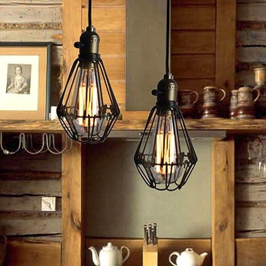 Estilo Nórdico luz pendiente estilo industrial E27 retro Dúplex Escalera Araña Café Bar restaurante minimalista luz