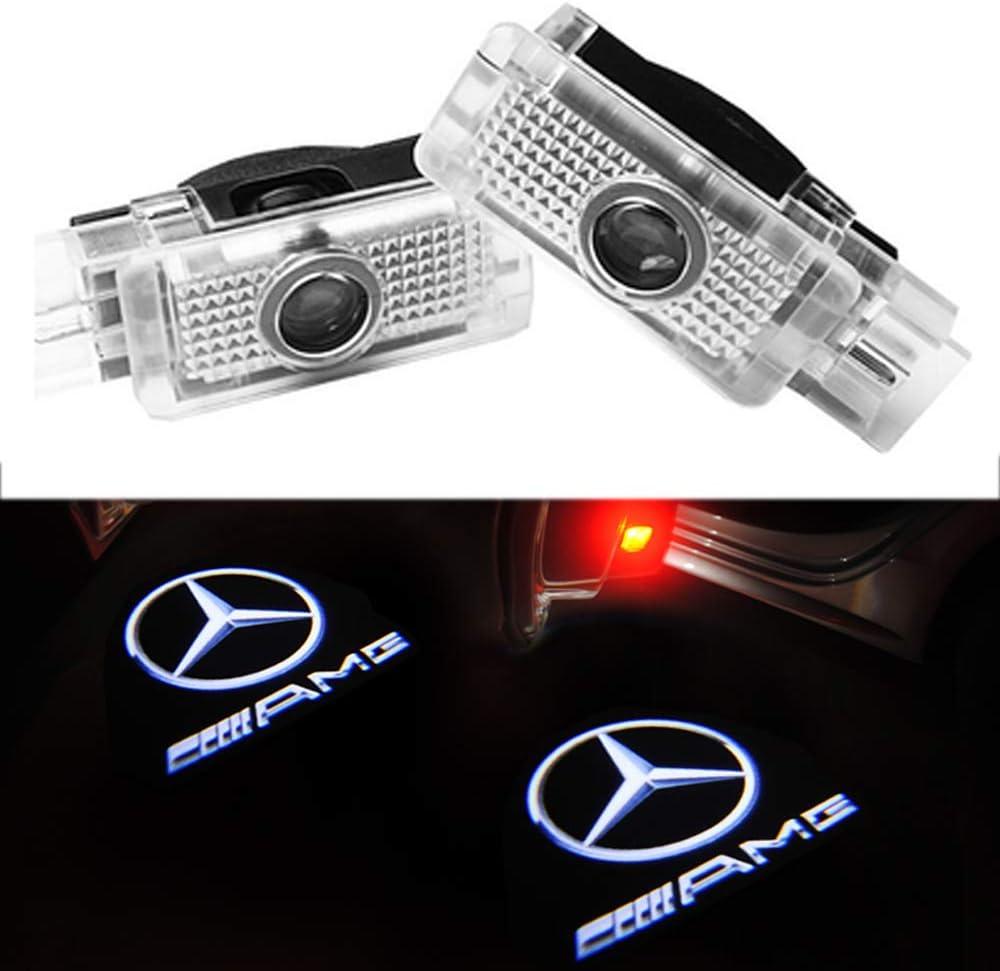 For Benz CLA 4PCS ZHANGNA ZHANGNA Car Shadow Light,Car Door LED Logo Projector Ghost Shadow Lights,Welcome Door Logo Light