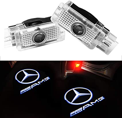 ZHANGNA Easy Installation Car Shadow Light,Car Door LED Logo Projector Ghost Shadow Lights,Welcome Door Logo Light with 2pcs