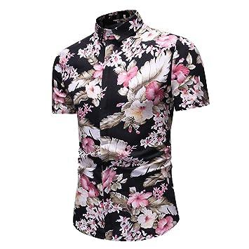 AG&T Funky Camisa Hawaiana Señores | Manga Corta Bolsillo ...