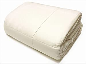 OrganicTextiles Premium Natural Australian Wool Filled Comforter (Queen, Extra Heavy) with Organic Cotton Covering, Machine Washable, Hypoallergenic Bedding, Dry & Cool All Seasons Use - Natural White