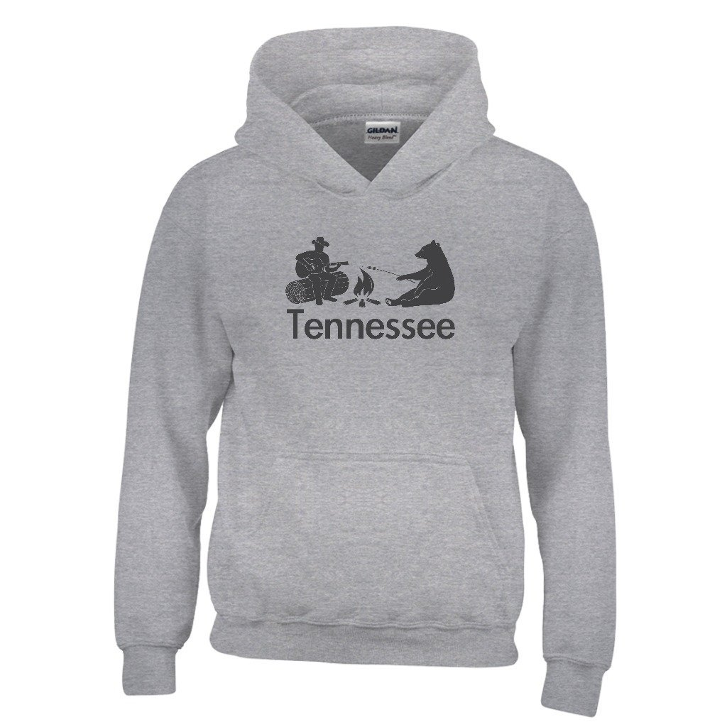 Kids Sweatshirt Tennessee Campfire /& Bear Youth Hoodie