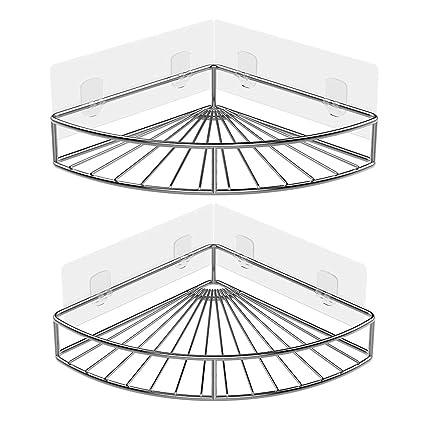 32 x 11.5 x 12 cm Bathroom Storage & Organisation Oriware Adhesive Shower Organiser Caddy Basket Bathroom Shelf Storage SUS304 Stainless Steel No Drilling Bathroom Shower Caddies